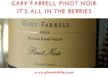 072018 Gary Farrell Pinot Noir: It's all in the berries