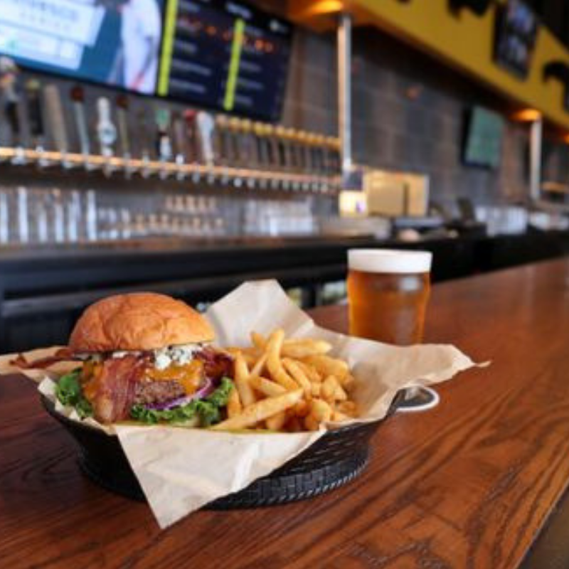 101118 flix brewhouse burger on bar