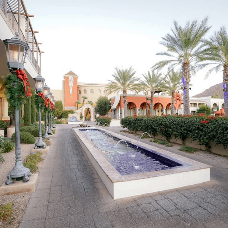 120218 Christmas dinner at Omni Scottsdale Resort & Spa at Montelucia