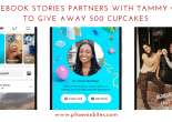050919 Facebook Stories Partners with Tammy Coe to Give Away 500 Cupcakes