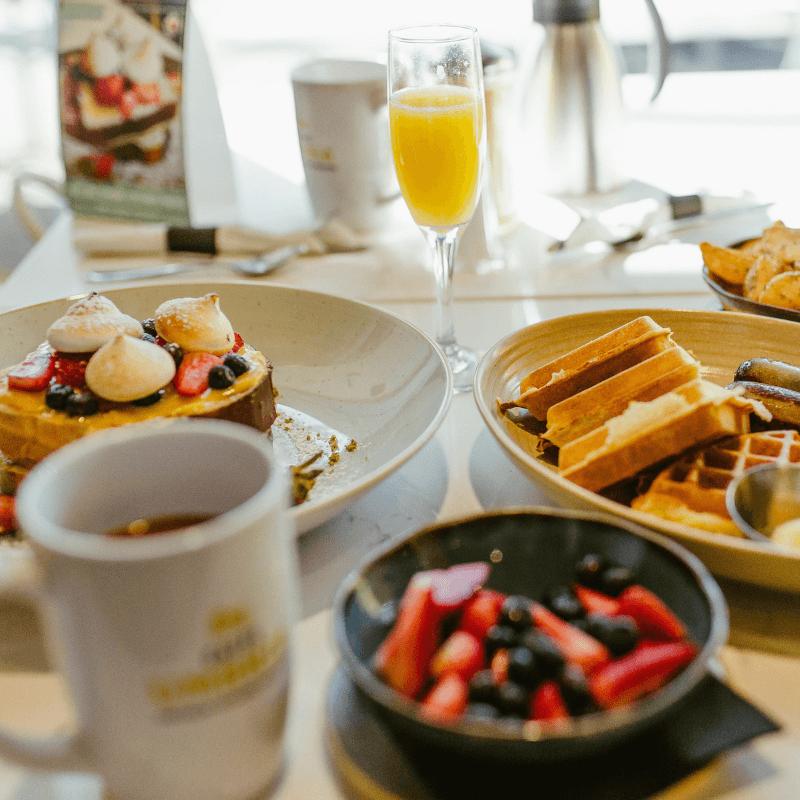 OEB Breakfast Co. full table