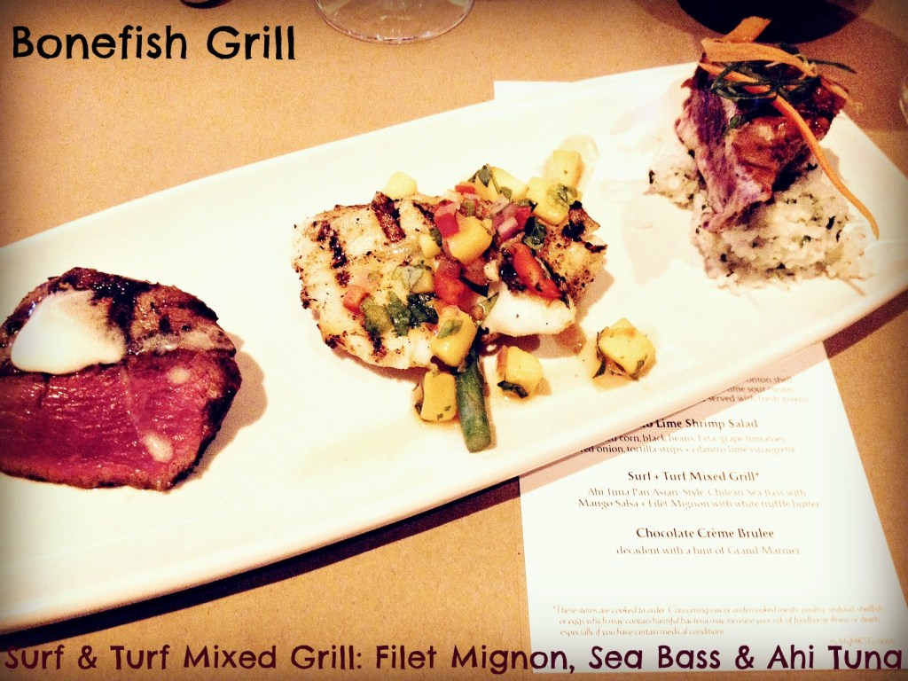 Bonefish Grill Surf and Turf Mixed Grill