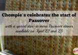 Chompie's Special Passover Dinner