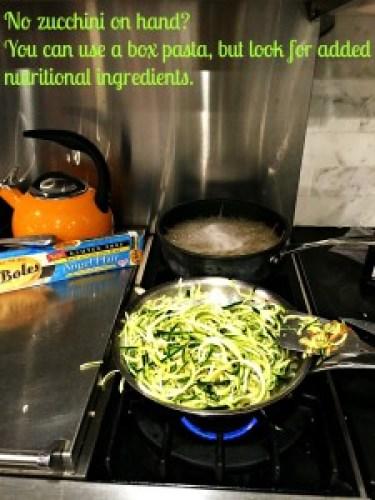Zucchini Pasta During