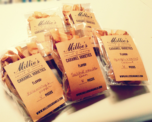 Millie's Caramels made in Phoenix, Arizona