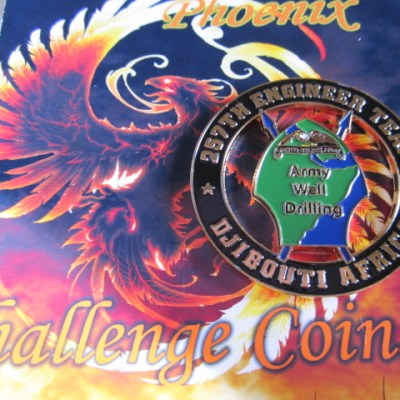 real Authentic AFRICOM 257th Engineer Bn Custom coin