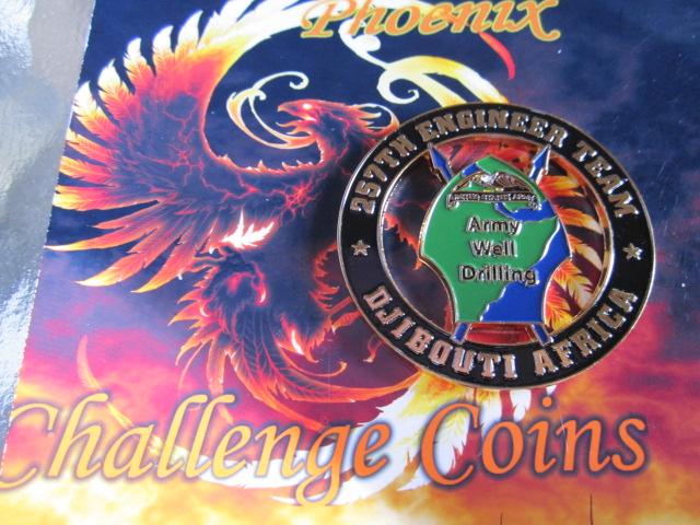 real Authentic AFRICOM 257th Engineer Bn Custom coin