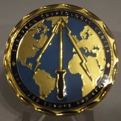 RARE NSA European Cryptologic Center Commander's Coin