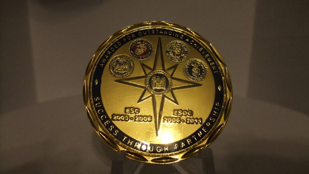 RARE NSA European Cryptologic Center Commander's Coin back