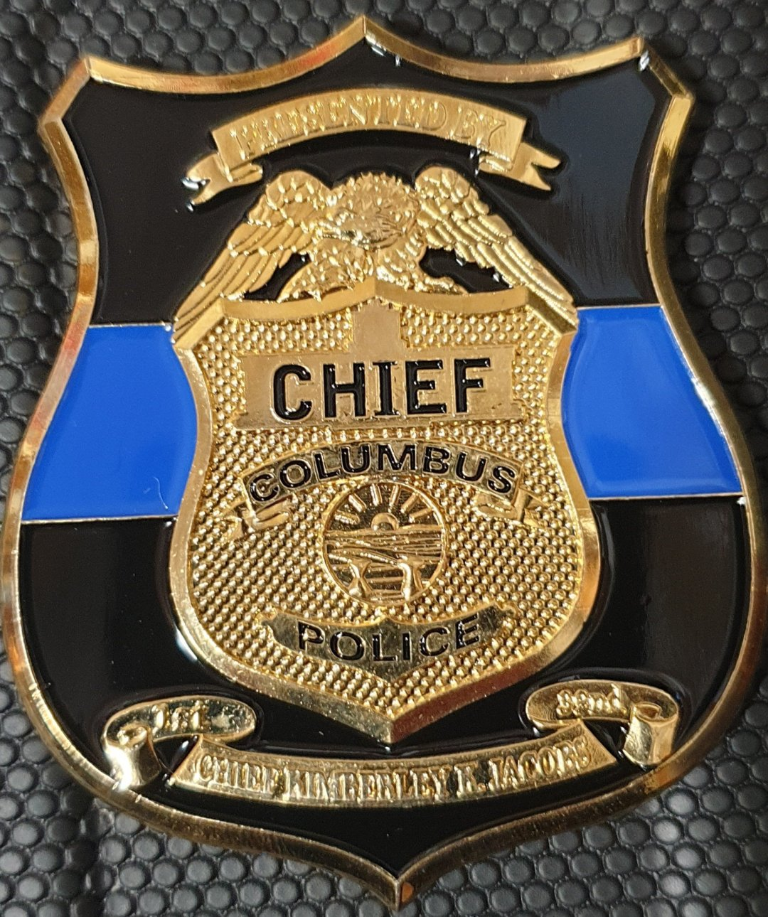 32nd Columbus PD Chief Custom Shaped Police Chief Coin By Phoenix Challenge Coins backside