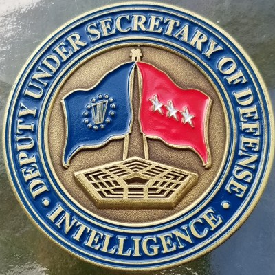 Deputy Secretary of Defense Intelligence red flag current coin back