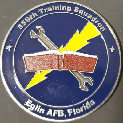 USAF 359th Training Squadron F-35 Commander's Challenge Coin Award for Excellence made by Phoenix Challenge Coins