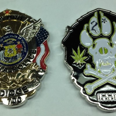 Arena WI K-9 Unit Custom Police Coin by Phoenix Challenge Coins