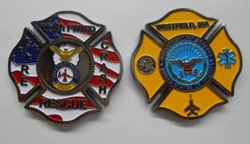 104th Fighter Wing FD Barnes AB MA Custom Fire House coin