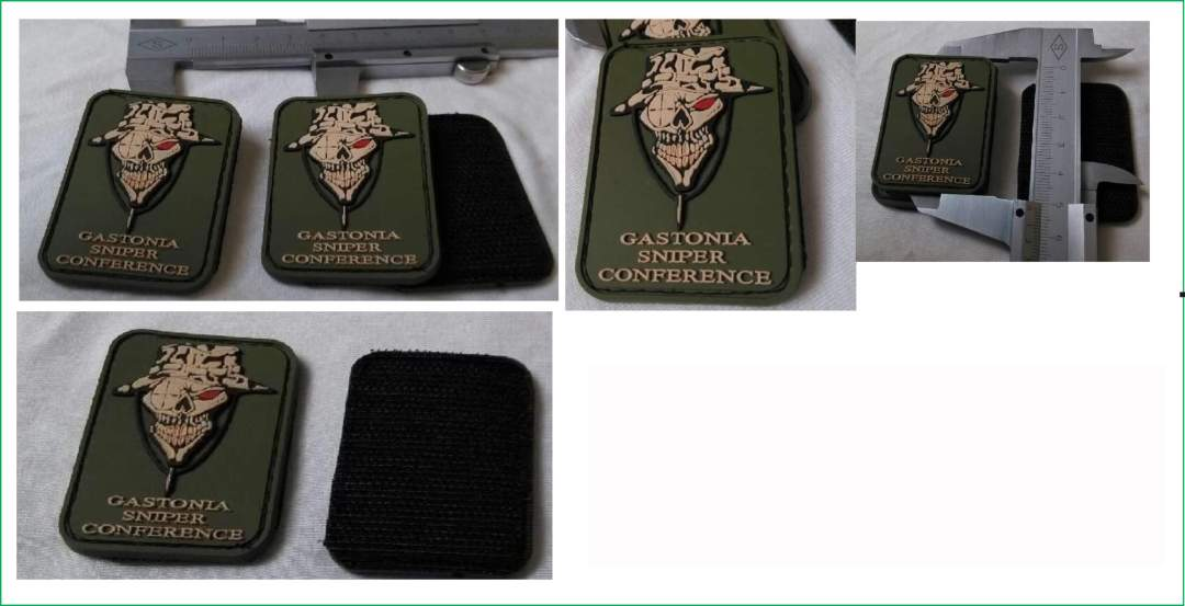 Gastonia Sniper Conference 2013 3D PVC Police Patches