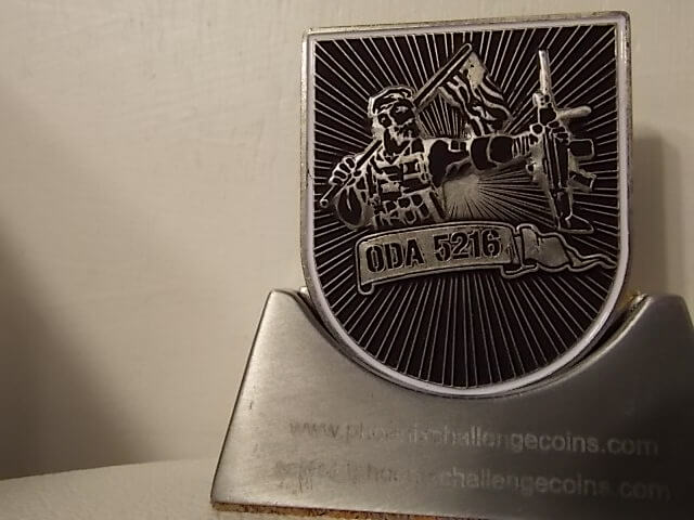 ODA 5216 5th Special Forces Group (A) Flash Shaped Special Forces coin -  Phoenix Challenge Coins