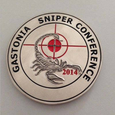 Gastonia 2014 Sniper Conference Challenge Coin By Phoenix Challenge Coins front