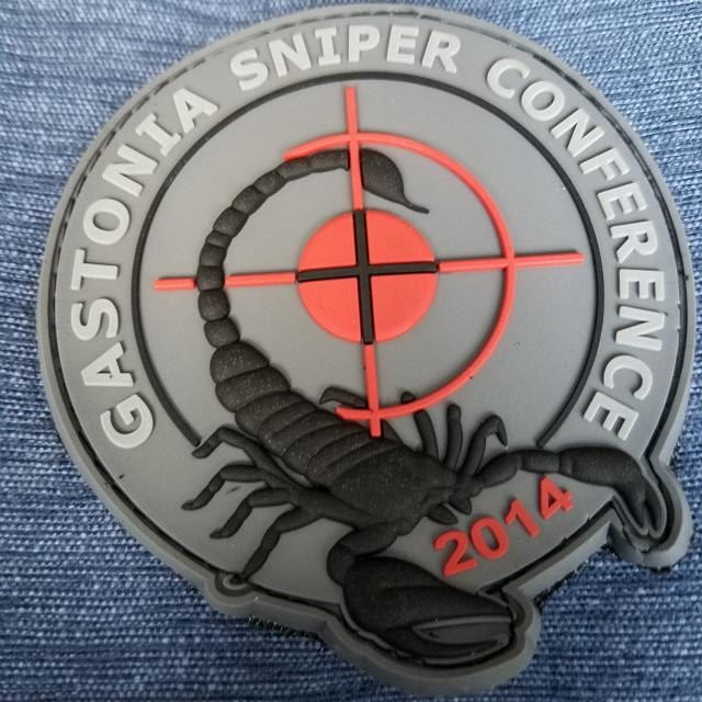 Gastonia PD Sniper Conference 2014 Custom morale Patch by Phoenix Challenge Coins