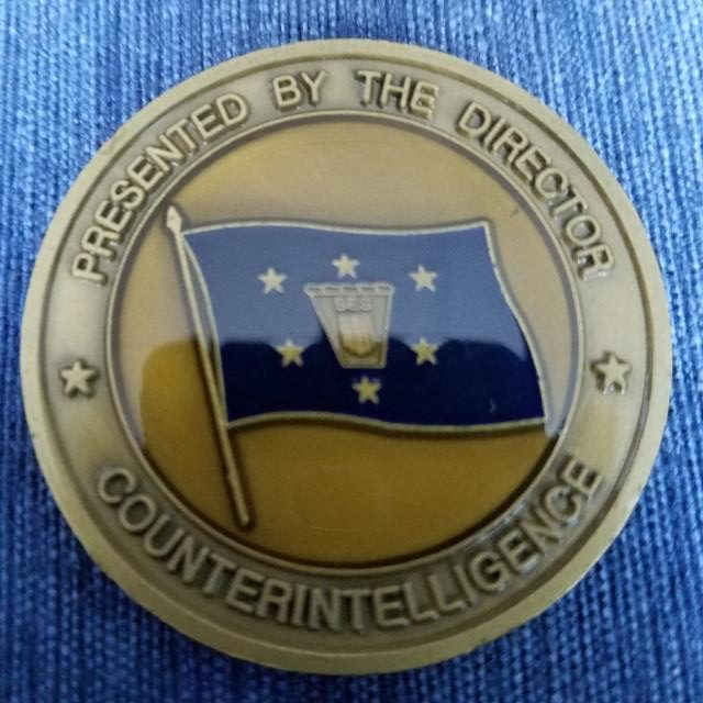 US Department of Defense Director Counter Intelligence Commanders Coin back
