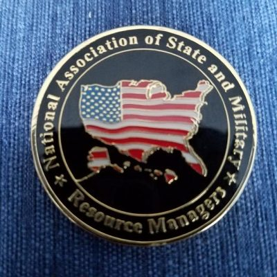 National Association of State and Military Resource Managers NASMRM Challenge Coin