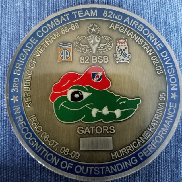 82nd BSSD Gators Command Team LTC and CSM Challenge Coin - Phoenix  Challenge Coins