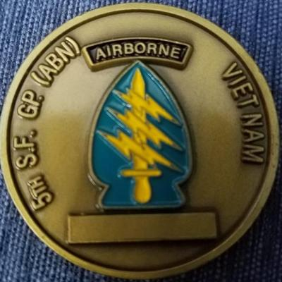 5th Special Forces Group (Airborne) Vietnam Coin back