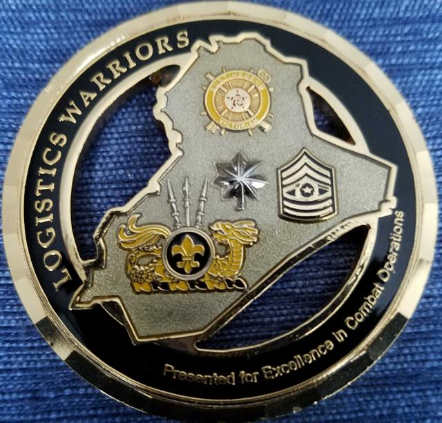 391st CSSB Commanders Coin Presented for Excellence in Combat OIF 08-09 Unit coin back