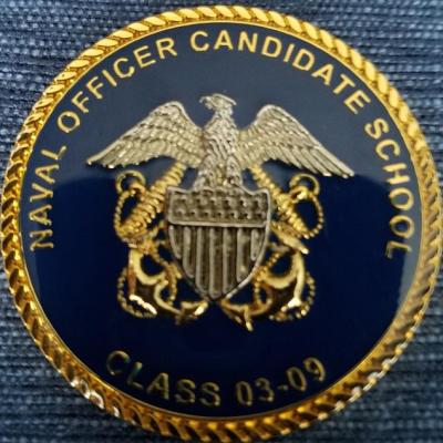 USN Navy Officer Candidate School Class (USN OCS) 03-09 Newport, RI Challenge Coin back