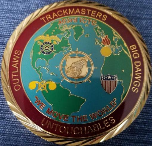 403rd ICTC Combat Support OIF 07-09 Command Team Coin