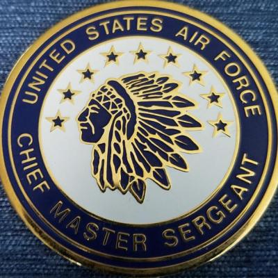 Chief Master Sergeant of the Air Force 1 Sided Presentation Coin