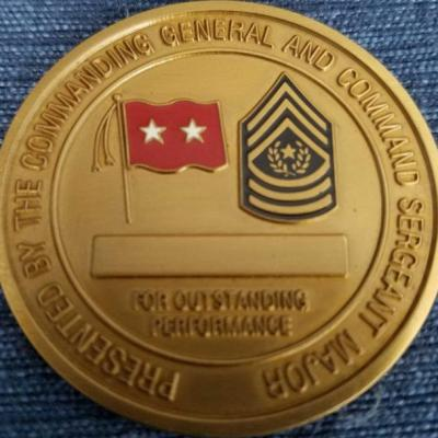 29th Infantry Division CG and CSM Command Team Coin BACK