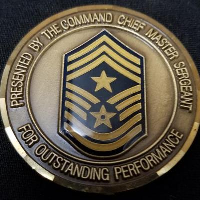 USAF AFSOC 16th SOW Special Operations Wing Command Chief MSGT Challenge Coin back