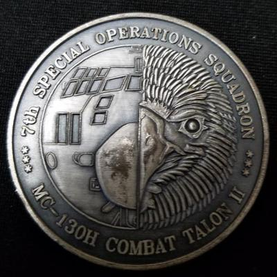USAF AFSOC 7th Special Operations Squadron 7th SOS MC-130H Combat Talon Challenge Coin back
