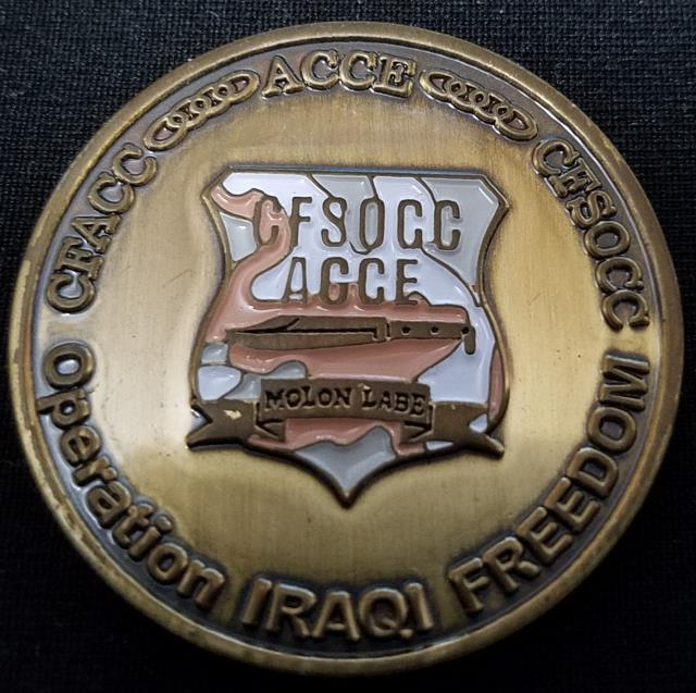 CFSOCC CJSOACC ACCE BG Pink Williams Commanders Coin