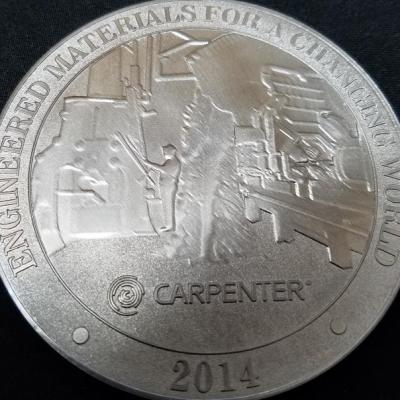 Carpenter Medals 125th Anniversary Steel Alloy Custom Corporate Challenge Coin By Phoenix Challenge Coin