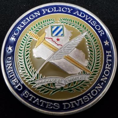 US State Department Foreign Policy Adviser US Division-North 3rd ID OIF Deployment Challenge Coin by Phoenix Challenge Coins back