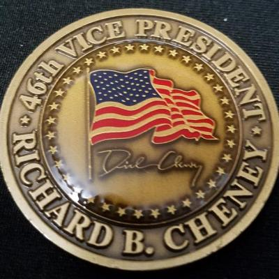 Vice President of The United States Richard Cheney Challenge Coin back