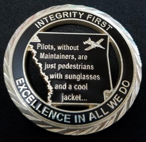 USAF 188th Maintenance Squadron 188th MXS Challenge Coin by Phoenix Challenge Coins back
