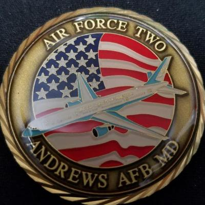 Vice President of the United States Air Force 2 Andrews Air Force Base Challenge Coin back