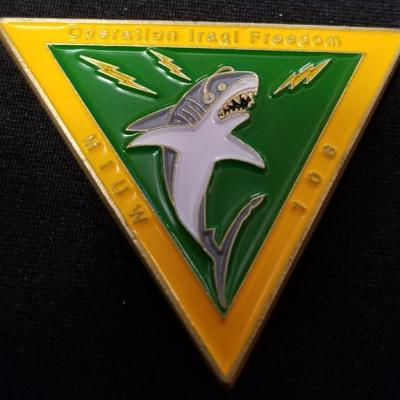 US Navy 106th MIUW OIF triangle shaped challenge coin