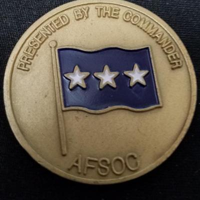 CINCAFSOC USAF Special Operations Command CG Challenge Coin back