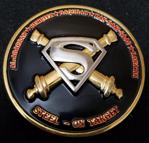 A Battery 1st BN 137th Field Artillery Men of Steel OIF 09-10 Command Team Challenge Coin by Phoenix Challenge Coins