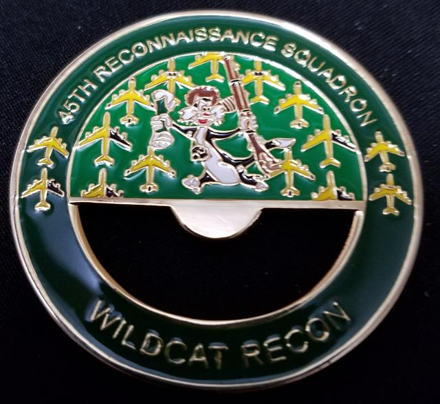 USAF 45th Reconnaissance Squadron Wild Cats In God we trust all others we  monitor Bottle Opener Custom Challenge Coin - Phoenix Challenge Coins