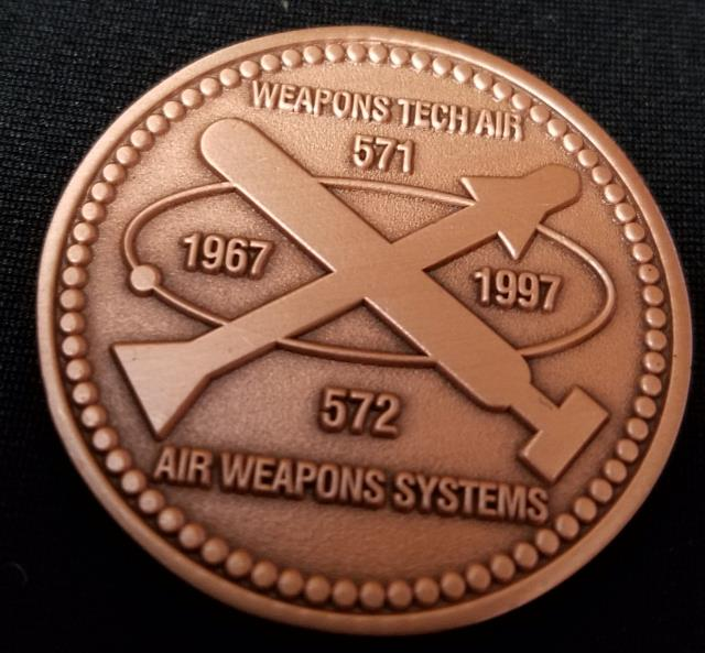 Discovery Air Weapons Technician Armorer Tazmanian Devil TAZ Challenge Coin By Phoenix Challenge Coins back