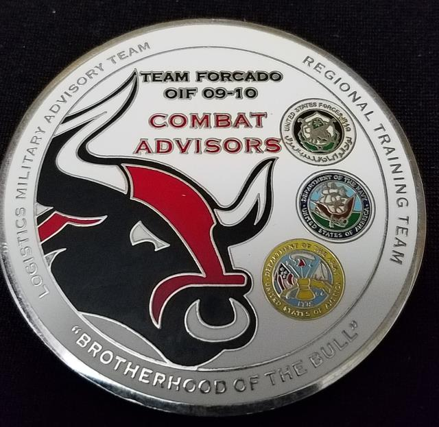 ANMTB Joint Mission Iraq Team Forcado An Numaniyah MTT MNF-I OIF 09-10 Combat Advisors Deployment Custom Challenge Coin By Phoenix Challenge Coins back