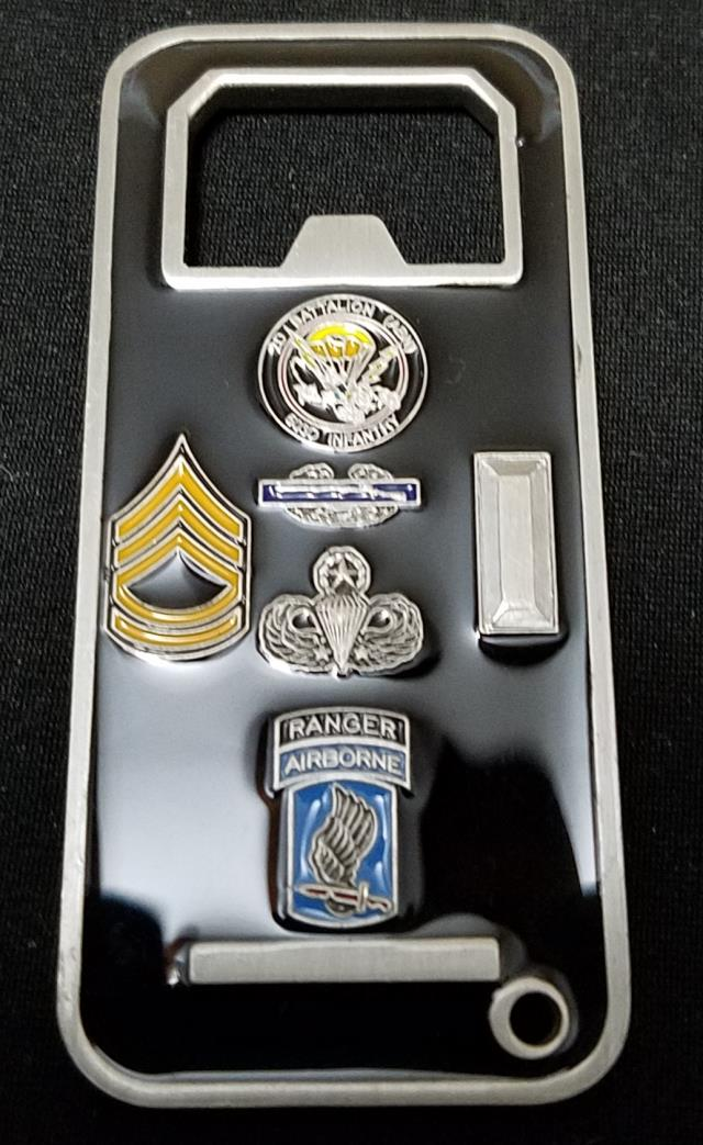 1st Platoon Battle Company 2nd Bn 503rd Abn Infantry Crusaders OEF Deployment Command Team Bottle Opener Custom Coin by Phoenix Challenge Coins back