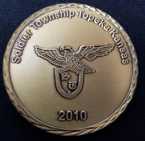 Soldier Township KS 2010 Fire Dept custom challenge coin by Phoenix Challenge Coins back