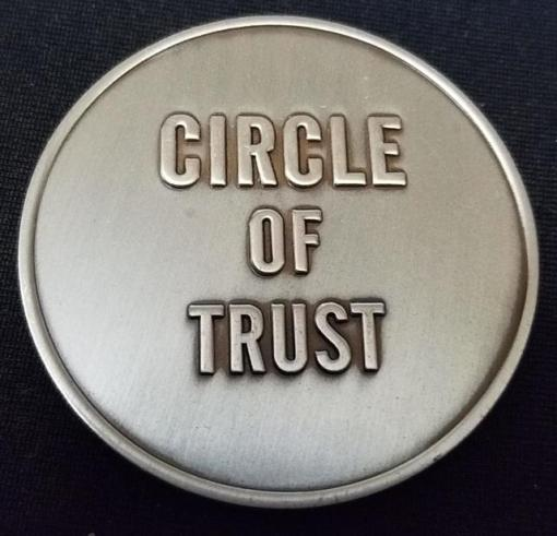 Physiocontrol Medtronic circle of trust corporate challenge coin by Phoenix Challenge Coins
