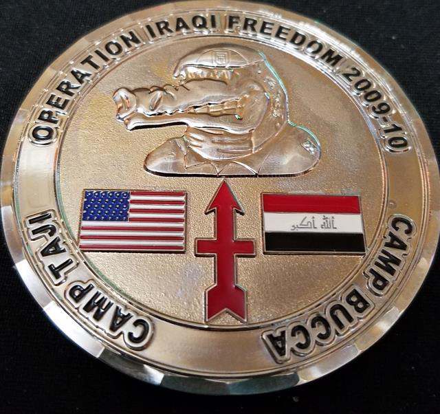 2-127 Infantry Camp Bucca OIF 09-10 Camp Bucca Camp Taji Strike Forward Custom Challenge Coin by Phoenix Challenge Coins