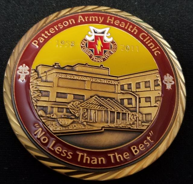 Patterson Army Health Fort Monmouth NJ Clinic Custom Coin - Phoenix  Challenge Coins